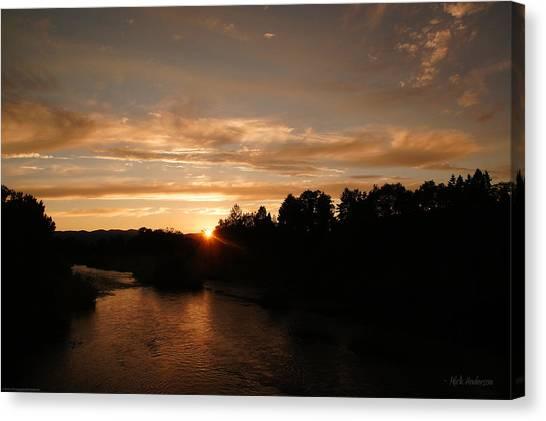 Rogue August Sunset Canvas Print