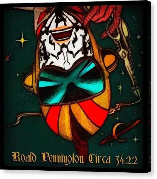 Astronauts Canvas Print - Rolad Pennington, Circa 3422  Go Inside by Roald Pennington