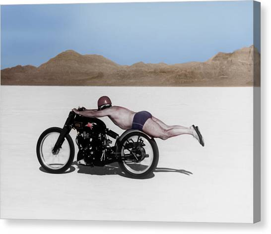 Salt Canvas Print - Roland Rollie Free by Mark Rogan