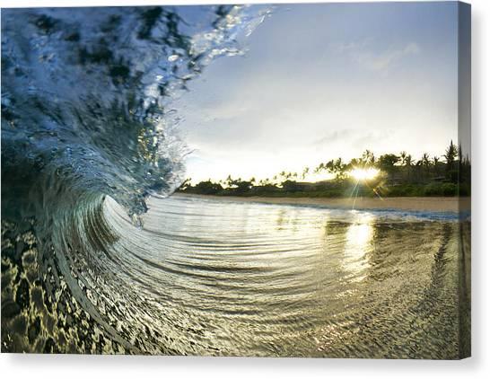 Ocean Sunrises Canvas Print - Rolled Gold by Sean Davey