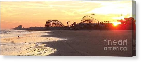 Roller Coaster Sunset Canvas Print