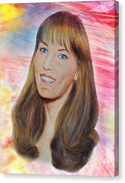 Roller Derby Star Lovely Barbara Baker Canvas Print