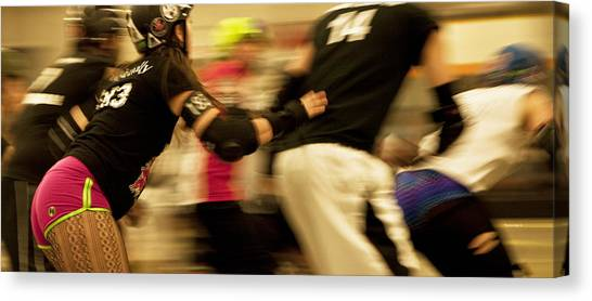 Roller Skating Canvas Print - Roller Derby by Theresa Tahara