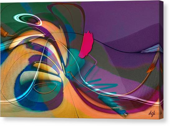 Roller Painting No. 1 Canvas Print