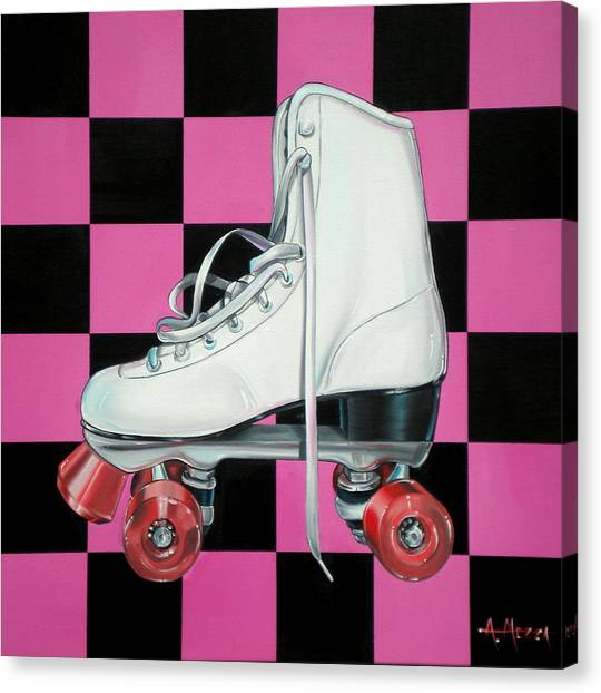 Roller Skating Canvas Print - Roller Skate by Anthony Mezza