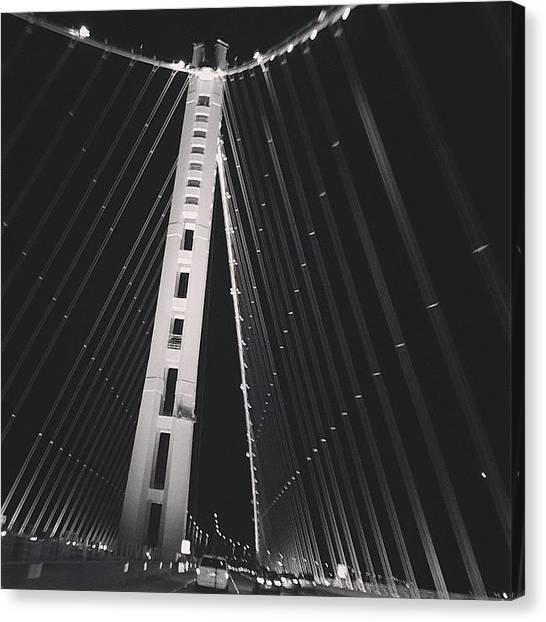 Sports Cars Canvas Print - Bay Bridge by Cesar Ochoa