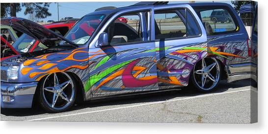 Rolling Art Lowrider Canvas Print