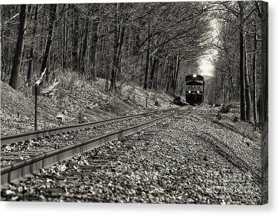 Rolling Down The Tracks Canvas Print