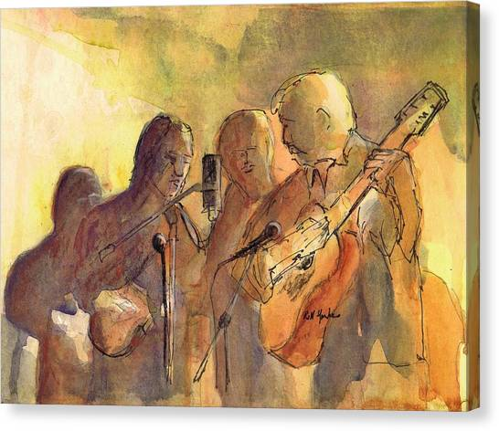 Bluegrass Canvas Print - Rolling In My Sweet Baby's Arms by Robert Yonke