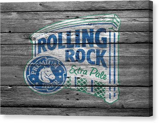 Beer Can Canvas Print - Rolling Rock by Joe Hamilton