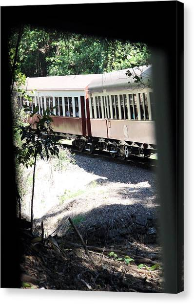 Canvas Print featuring the photograph rolling Stock by Debbie Cundy