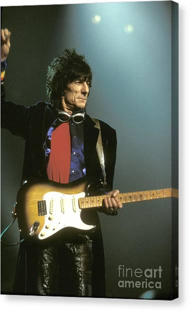 Rolling Stones Canvas Print - Rolling Stones by Concert Photos