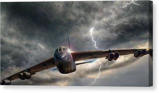 Cold War Canvas Print - Thundering B-52 by Peter Chilelli