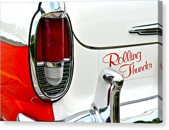 Turn Signals Canvas Print - Rolling Thunder by Frozen in Time Fine Art Photography