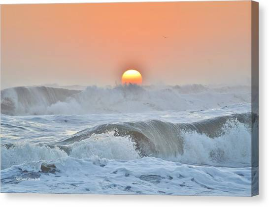 Rolling Waves Canvas Print