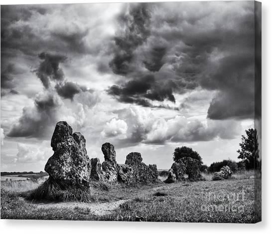Rainclouds Canvas Print - Rollright Stones by Tim Gainey