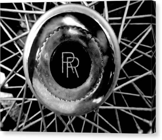 Rolls Royce - Black And White Canvas Print