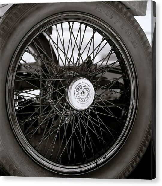 Rolls Royce Wheel Canvas Print