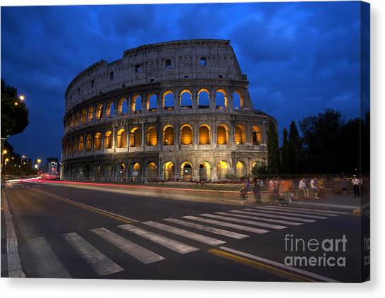 Rome Canvas Print - Roma Di Notte - Rome By Night by Marco Crupi