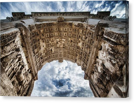 Canvas Print featuring the photograph Roman Arch by Ryan Wyckoff