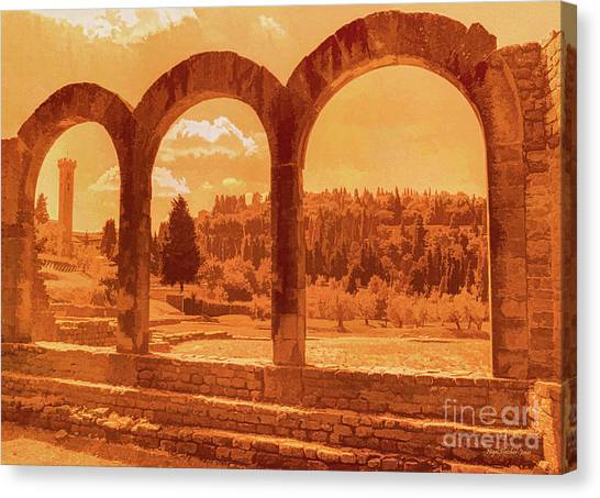 Roman Arches At Fiesole Canvas Print