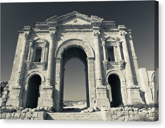 Jordan Canvas Print - Roman-era Hadrians Arch, Jerash, Jordan by Panoramic Images
