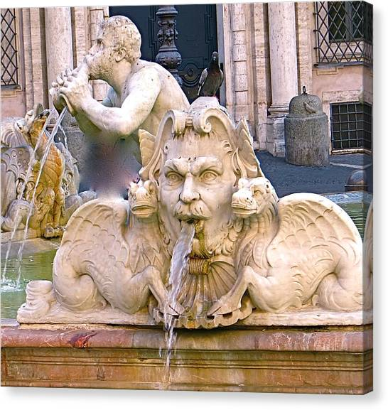 Roman Fountain Canvas Print