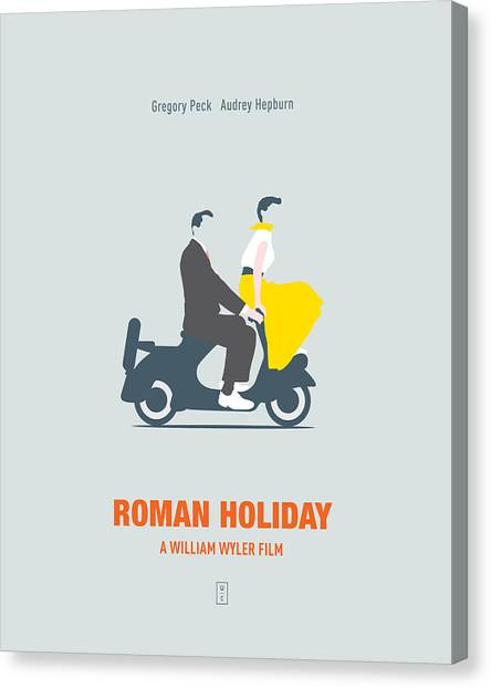 Audrey Hepburn Canvas Print - Roman Holiday by Smile In The  Mind