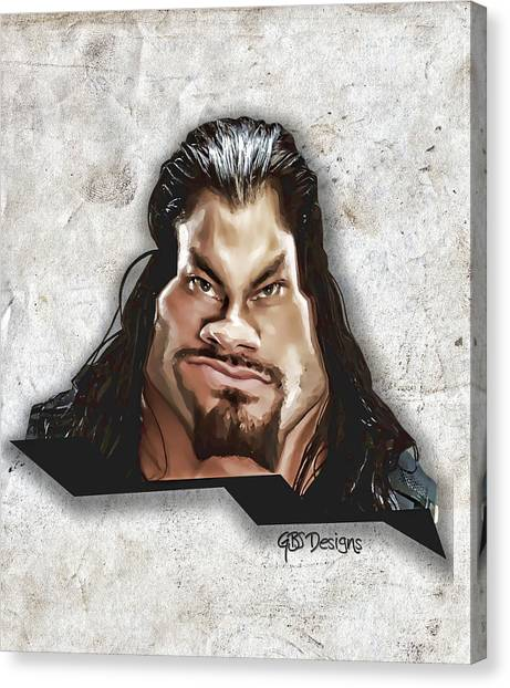 Wwe Canvas Print - Roman Reigns Caricature By Gbs by Anibal Diaz