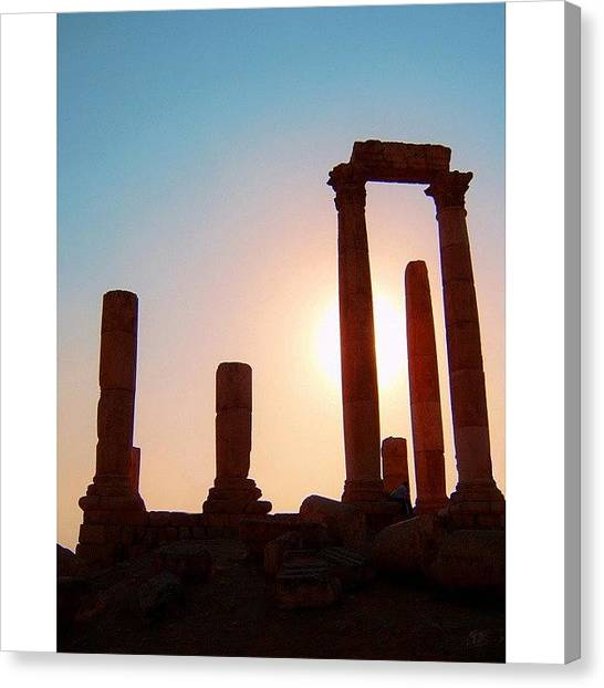 Roman Art Canvas Print - Roman Ruins Of Jerash:  A Photo Of The by Conor O'Brien
