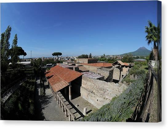 Mount Vesuvius Canvas Print - Roman Ruins by Pasquale Sorrentino