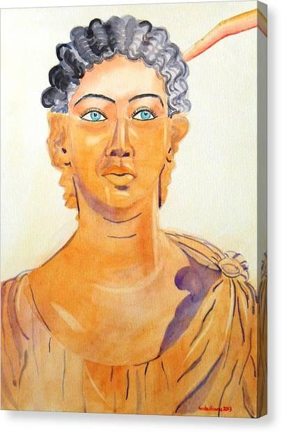Roman Statue Coming Alive  Canvas Print