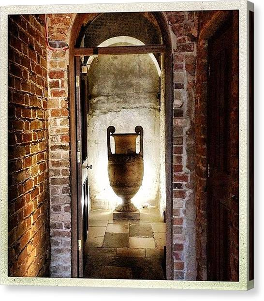 Roman Art Canvas Print - Roman Urn #powerscourt #house #urn by Luis Aviles