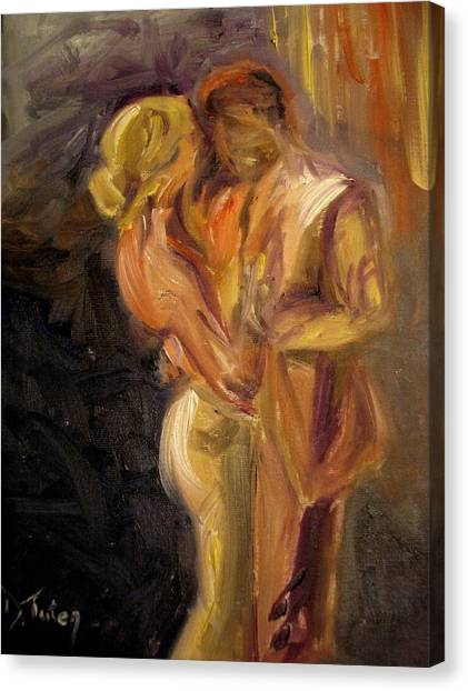 Tango Canvas Print - Romance by Donna Tuten