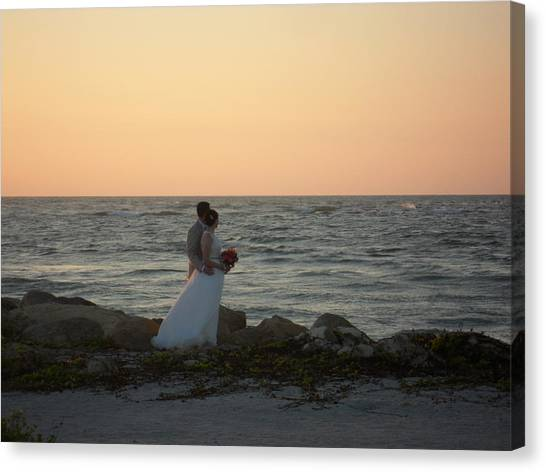 Romance In Captiva Canvas Print