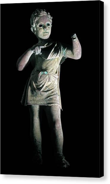 Hellenistic Art Canvas Print - Romano-greek Statue by Patrick Landmann/science Photo Library