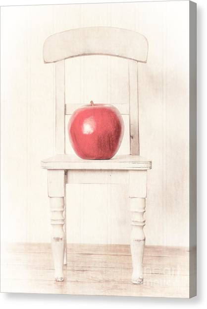 Chairs Canvas Print - Romantic Apple Still Life by Edward Fielding
