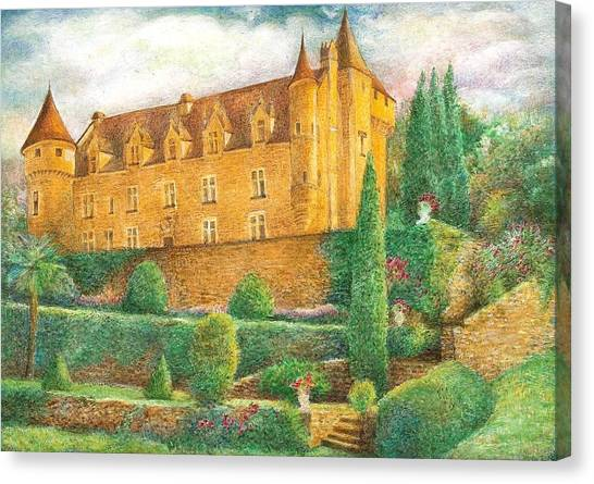 Romantic French Chateau Canvas Print
