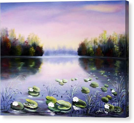 Romantic Lake Canvas Print