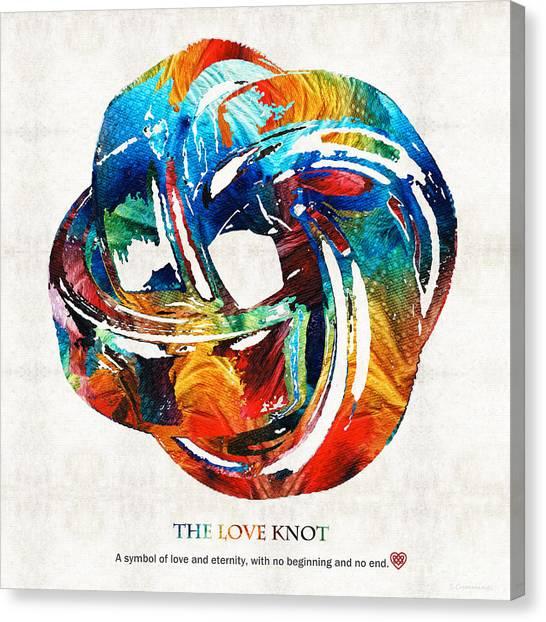 Knot Canvas Print - Romantic Love Art - The Love Knot - By Sharon Cummings by Sharon Cummings