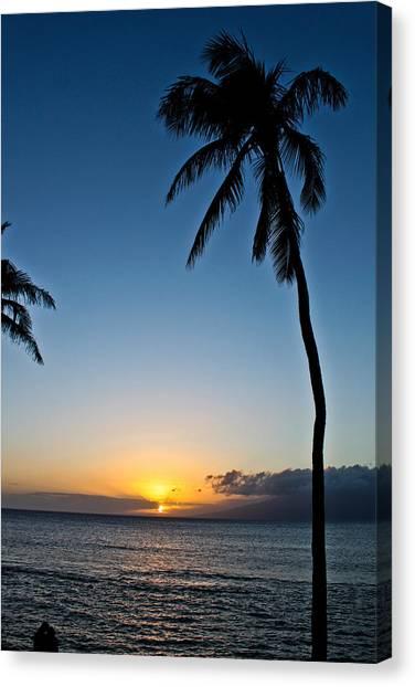 Romantic Maui Sunset Canvas Print
