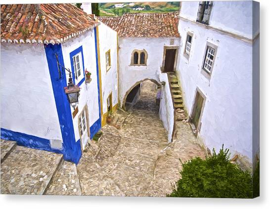 Romantic Obidos Canvas Print