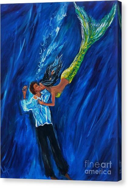 Romantic Rescue Canvas Print