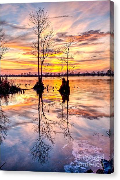 Romantic River Canvas Print