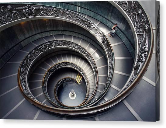 The Vatican Museum Canvas Print - Rome Vatican Museum by Nina Papiorek