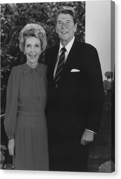 Republican Presidents Canvas Print - Ronald And Nancy Reagan by War Is Hell Store
