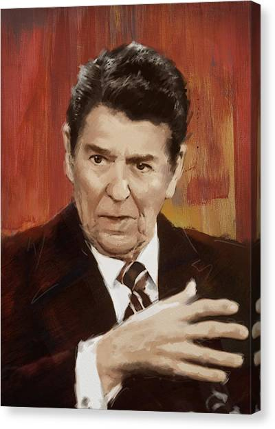 Ronald Reagan Canvas Print - Ronald Reagan Portrait 2 by Corporate Art Task Force