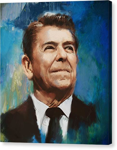 Ronald Reagan Canvas Print - Ronald Reagan Portrait 6 by Corporate Art Task Force