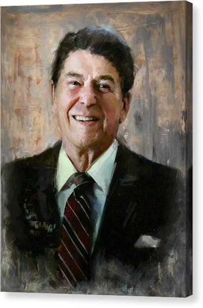 Ronald Reagan Canvas Print - Ronald Reagan Portrait 7 by Corporate Art Task Force