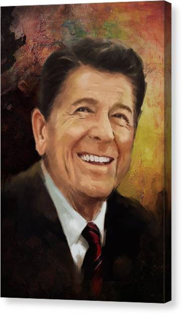 Ronald Reagan Canvas Print - Ronald Reagan Portrait 8 by Corporate Art Task Force